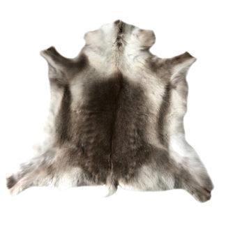 Rentierfell grau weiß braun edel super Qualität hochwertig echt Fell