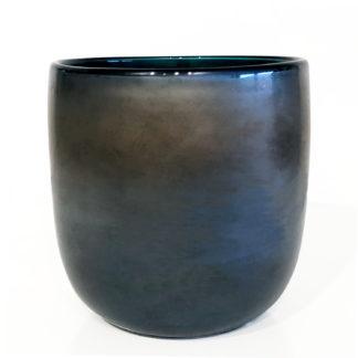 Teelicht blau silber bronze smoke Glas schweres Glas Teelichthalter blau smoke