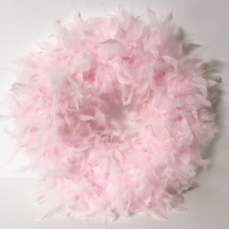 XXL Federkranz rosa 44 cm beidseitig mit echten Federn rosa Naturkranz Federn Oster Weihnachten Osterkranz