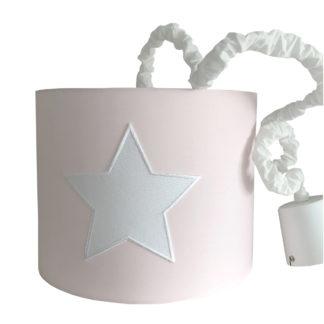 Hängelampe rosa Lampenschirm rosa mit weißem Stern von Light und Living Stern Lampe für das Kinderzimmer Kinderzimmerlampe rosa für Mädchen