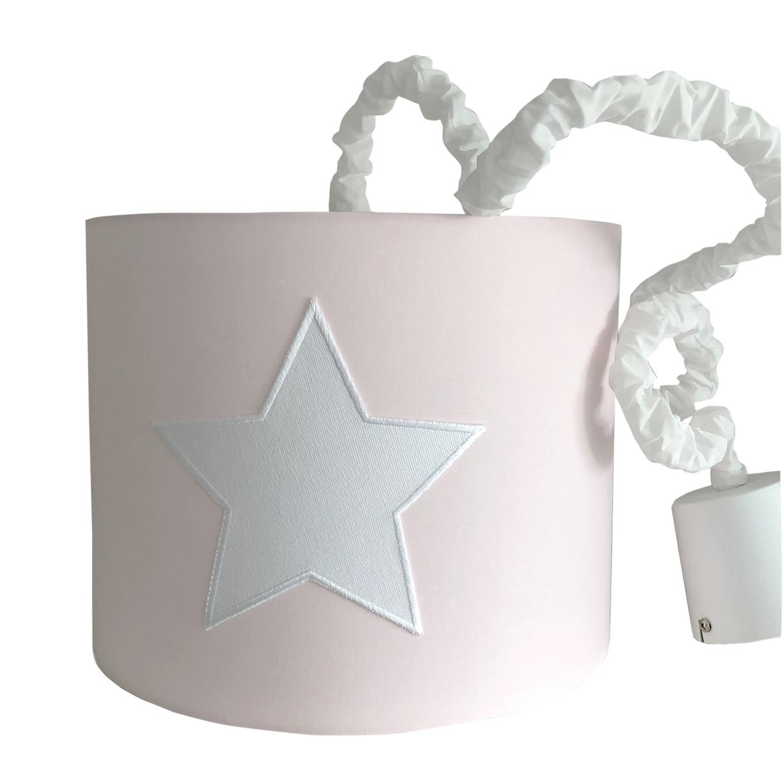 Hängelampe rosa Pendellampe Stern Lampenschirm rosa Kinderzimmer