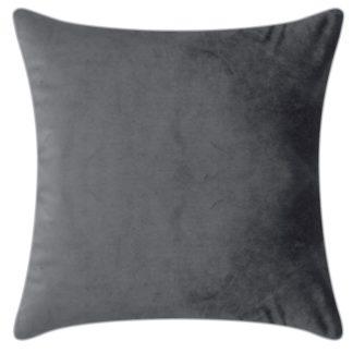 Samtkissen Samt-Kissenhülle grau Pad concept, Elegance Kissen Samt grau 50x 50 cm und 35x60 cm