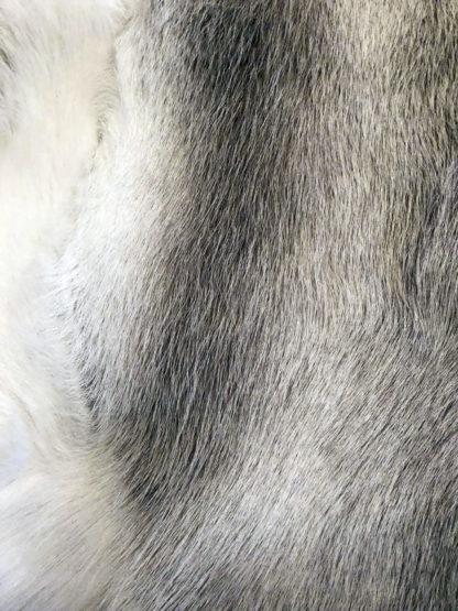 Rentierfell Rentier echt Fell beige grau weiß 115x100 cm