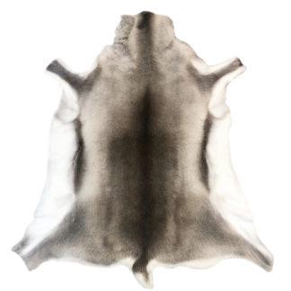 beige grau weiß 130x1115 cm XXL groß sehr edel und gute Qualität Rentierfell Teppich