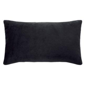 Kissen Samtkissen Kissenhülle schwarz 35x60 cm, von pad concept