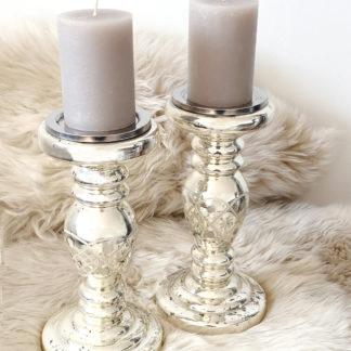 Kerzenständer Kerzenhalter Bauernsilber mit Gravur silber