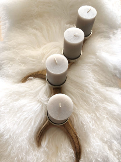 Kerzenständer Kerzenhalter Adventskranz Hirschgeweih Holz Metall 4 Kerzen