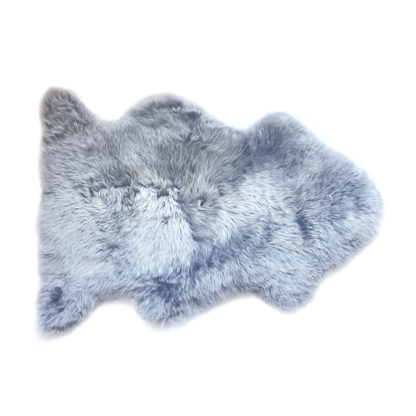 Neuseeland Lammfell hellblau grau platinum auskin sehr weich Premium Qualität, echt Fell, Schaffell