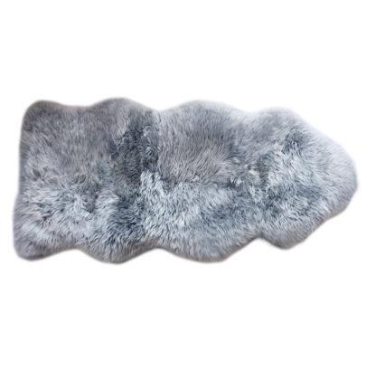 Neuseeland Lammfell grau platinum sehr weich Premium Qualität echt Fell Schaffell grau von der Marke auskin sehr lang