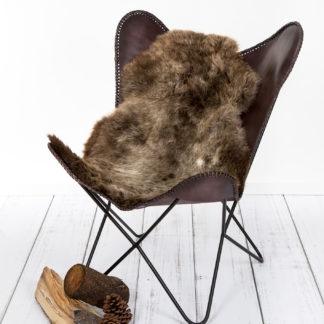 braun Heidschnucke Natur braun echt Fell Premium Qualität sehr weich von der marke auskin Felle