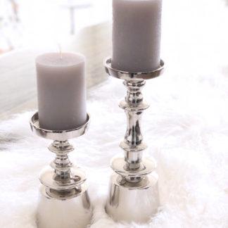 Kerzenhalter, Kerzenständer silber Metall vernickelt einarmig edel