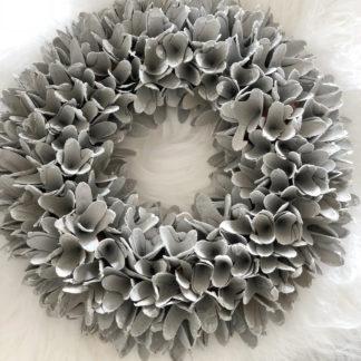 Kranz Naturkranz Türkranz grau silber weiß Glatter