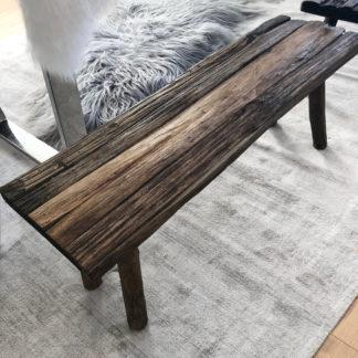 Holzbank, Sitzbank antik aus alten Holzdielen, Altholz, antik Finish braun