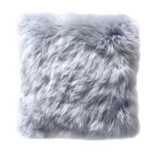 Tibet Lammfell hell blau grau Kissen Neuseeland extra weich hell blau platinum von auskin echt Fell 35 cm mit Inlett