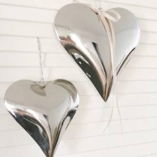 Metallherz Herz silber Aufhänger