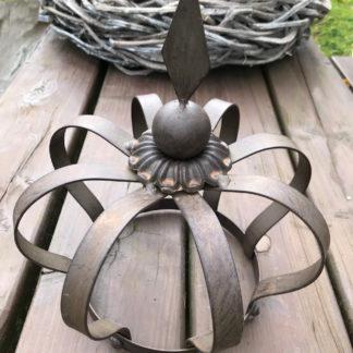 KRONE BRAUN METALL SHABBY Chic, Gartenkrone, Deko-Krone braun Rost Antik große Krone braun 30 cm