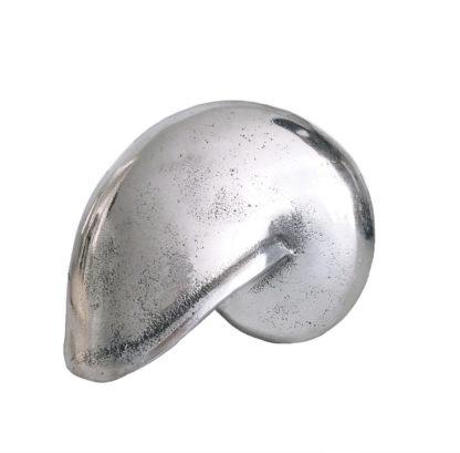 Nautilus Muschel Deko-Muschel, Deko-figur Muschel aus silber Metall Aluminium sehr edel