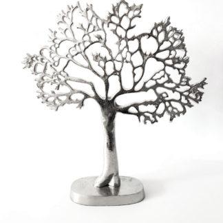 Schmuckbaum Schmuckhalter Schmuckständer Baum Dekobaum Dekorations-Baum silber Metall colmore Dekoratikel Baum Metall mit Ästen XL Aluminium