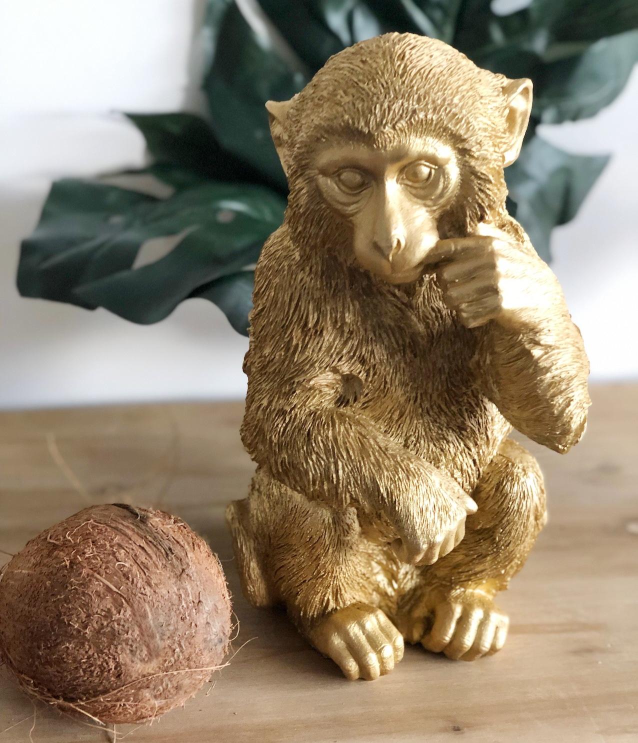 Affe aufblasbar Äffchen Figur Dschungel Urwald Party Deko Wasserspielzeug braun