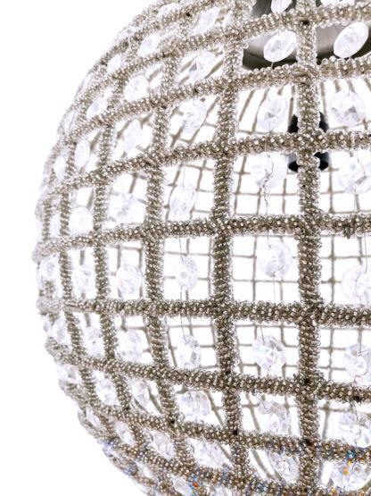 HÄNGELAMPE Hängeleuchte Pendelleuchte Kristall silber Metall rund Kugelform sehr edel extravagant Hängelampe Kristalle silber Nickel Kugel Kristallkugel light und living
