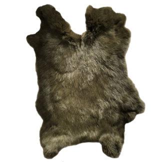 Hasenfell Dekofell Hase echt Fell Hase dunkel grün oliv Kaninchen Kaninchenfell echt Fell Rabbit Naturfell grün