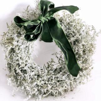 Kranz Naturkranz Asparagus Spargelkraut olive grün weiß gewachst in Ø 25 cm Osterkranz Türkranz Dekokranz edel Weihnachtskranz