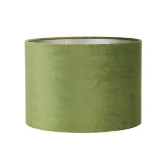Lampenschirm grün olive light rund Samt Velour Lampenschirm grün Ø 20 cm sehr edel Velour