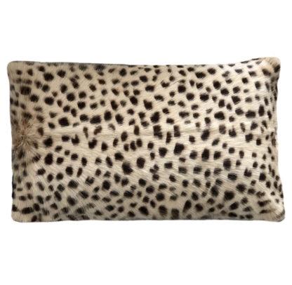Kissen Ziegenfell echt Fell Leopard Print Leopard Motiv Animal Print hell beige braun echt Fell Kissen Dekokissen Dschungel Safari Afrika