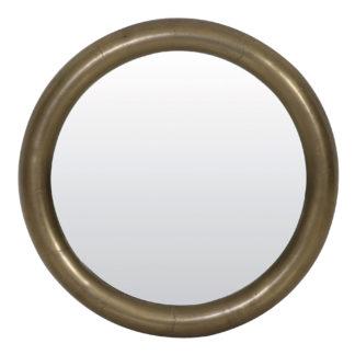 Spiegel antik bronze Wandspiegel XXL Ø 100 cm sehr groß Metall Aluminium nickel sehr edel Light & Living