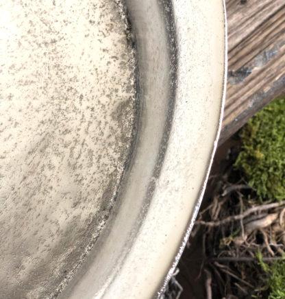 Pokal Schale auf Fuß rund silber Metall Aluminium raw vernickelt silber antik XXL Schale Ø 50 cm Dekoschale Blumenschale silber Osterschale Frühlingsdekoration Weihnachten