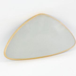 Spiegel gold Wandspiegel gold Retro Vintage Triangel-Form großer Spiegel Rahmen in gold