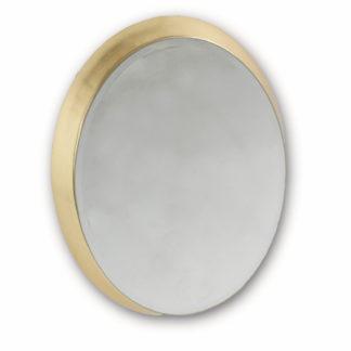 Spiegel Wandspiegel gold rund oval Retro Vintage Ellipse gold mit goldenem Rahmen mit Randschliff und Befestigung für die Wand