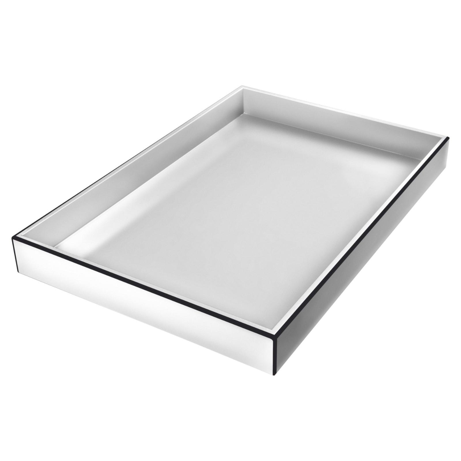 Lacktablett Weiß Mit Schwarzem Abgesetzter Linie Hochglanz Länglich Flourou Luxury Interior Design Art