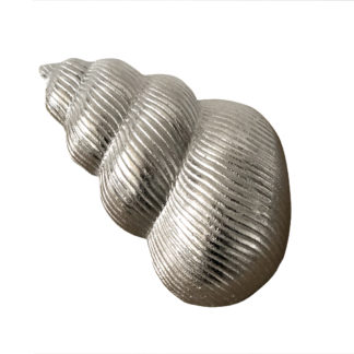 DEKO MUSCHEL SILBER runde Muschelform METALL ALUMINIUM DEKOMUSCHEL MARITIM DEKOFIGUR MUSCHEL
