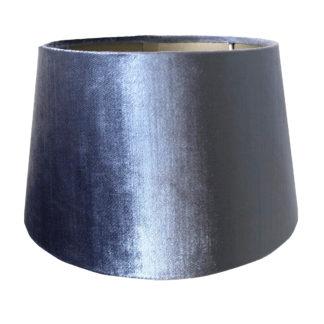 Lampenschirm Samt blau edel Lampenschirm Velour blau taupe innen 25x19x14 colmore