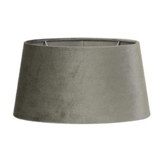 Lampenschirm Zinc taupe beige braun Velours Samt oval von Light and Living sehr edel 3ßx25x16 cm