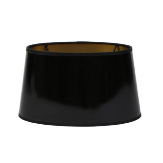 Lampenschirm schwarz gold Lack von Light and Living oval sehr edel Lampenschirm black schwarz Lack