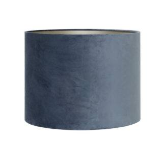 Lampenschirm blau grau Dusty Samt Velour blau Lampenschirm blau grau Retro Vintage von Light and Living