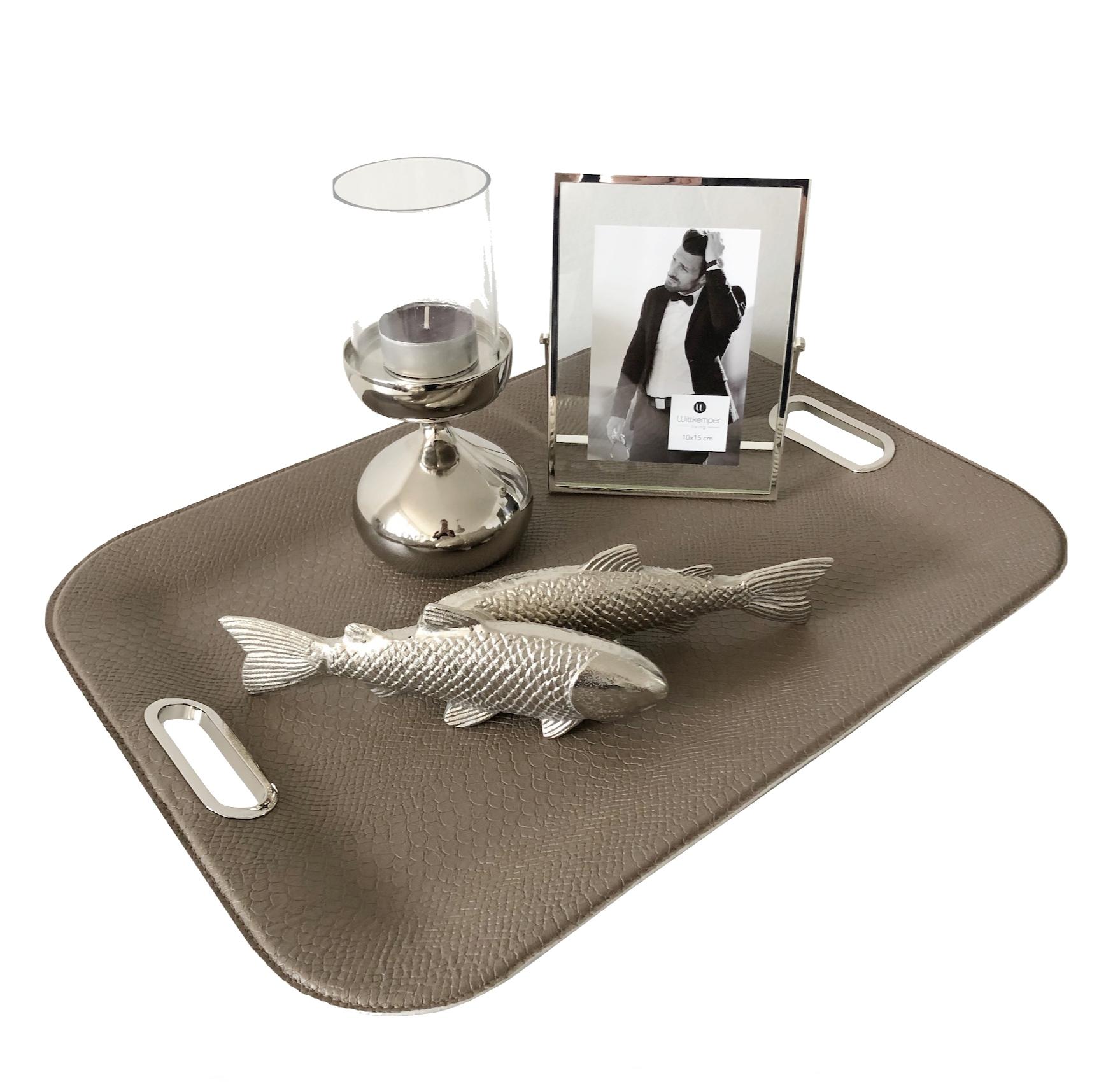 deko figur fisch silber alu metall maritim flourou. Black Bedroom Furniture Sets. Home Design Ideas