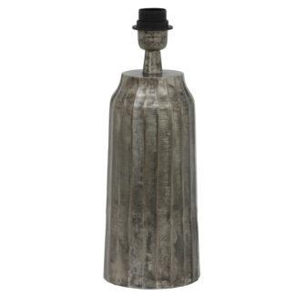 Tischlampe Lampenfuß schwarz silber bronze antik Timi 38 cm von Light and Living Vintage Retro Stil Vasenform