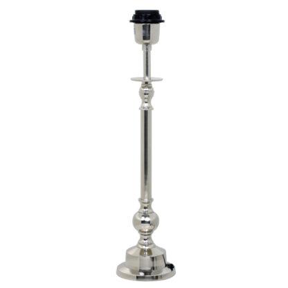 Lampenfuß silber Metall rund Chapura 43 cm hoch und von Light and Living edel klassisch elegant