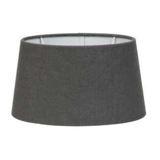 Lampenschirm dunkel grau Stoff Textil Livigno Leber Light and Living oval 30x25x16 cm