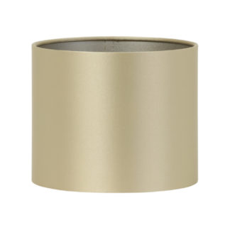 Lampenschirm gold Stoff Satin Monaco rund edel von Light & Living Luxury