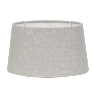 Lampenschirm hell grau Stoff Textil Livigno Leber Light and Living oval 35x30x18 cm