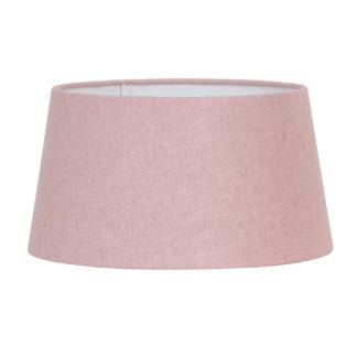 Lampenschirm rosa Leinen Stoff Baumwolle Textil Livigno rose von Light and Living rund 20x17x11,5 cm Kinderzimmer Lampenschirm Mädchen