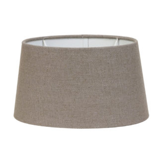 Lampenschirm taupe Leber Ton braun beige Stoff Textil Livigno Leber Light and Living oval 35x30x18