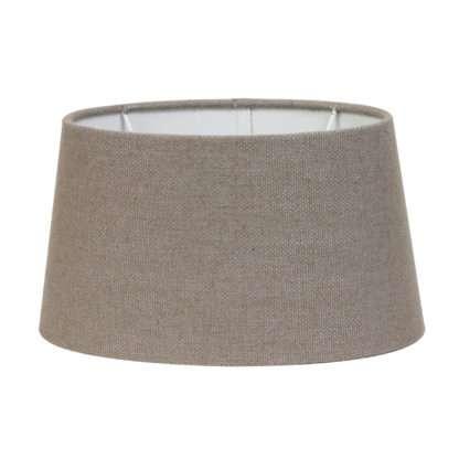 Lampenschirm taupe Leber Ton braun beige Stoff Textil Livigno Leber Light and Living oval 35x30x18