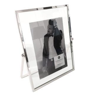 Bilderrahmen silber Edelstahl Float von Wittkemper sehr edel 21x17x1 cm für 10x15 cm Bilder moderner Bilderrahmen silber Edelstahl Glas