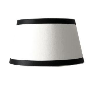 Tischlampe Lampenschirm schwarz weiß rund elegant edel exklusiver Lampenschirm Stoff Leinenstoff von colmore 25x22x13 cm