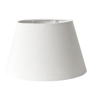 Lampenschirm oval weiß creme Leinen Stoff Baumwolle oval 15x16x16 cm edel von Light and Living